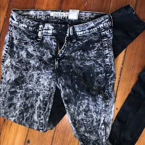 Pants - Marble ombré Jeans